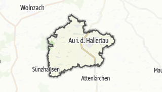 Cartina / Au in der Hallertau