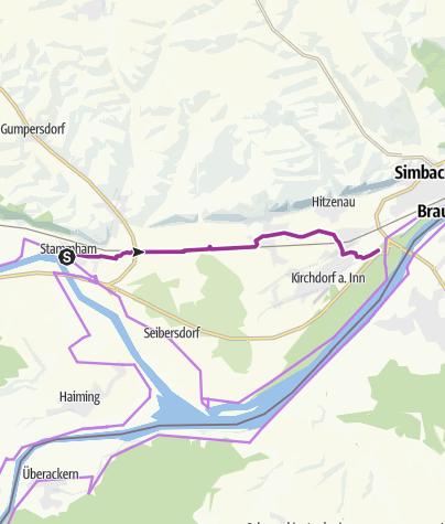 Karte / Innterrassenradweg