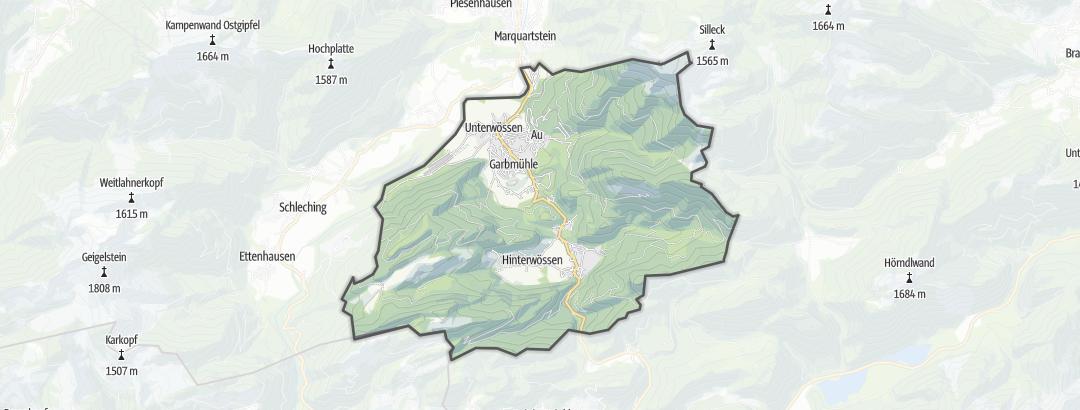 Karte / Nordic Walking Touren in Unterwössen