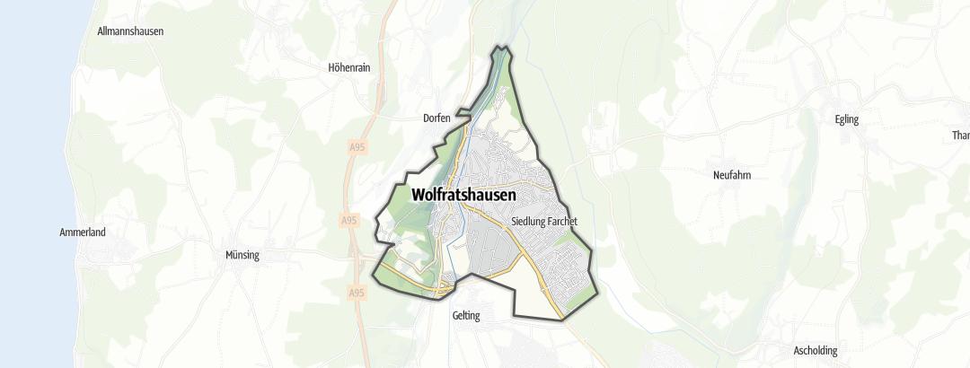 Térkép / Tematikus út,  Wolfratshausen területén