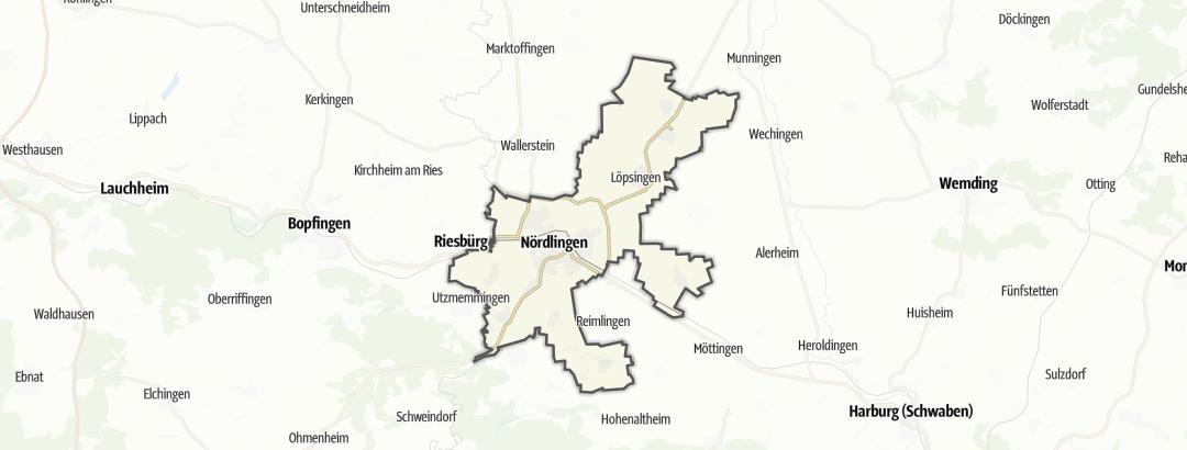 Karte / Wandern in Nördlingen
