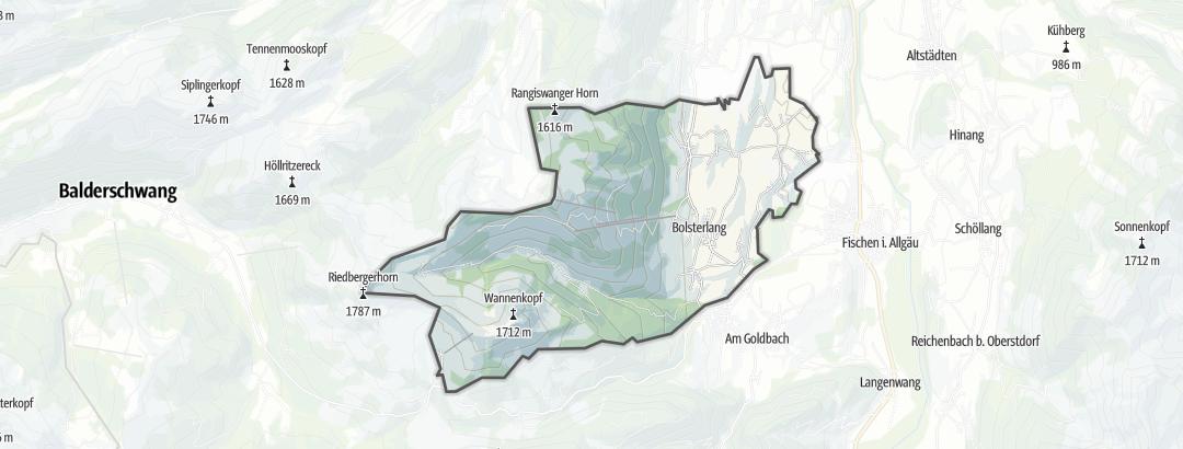 Map / Vacation apartments in Bolsterlang