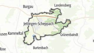 Cartina / Jettingen-Scheppach