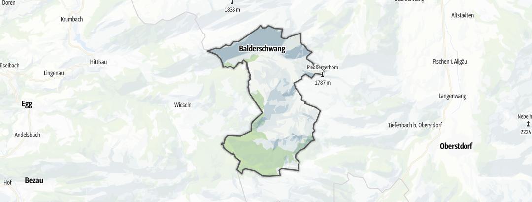 Karte / Radtouren in Balderschwang