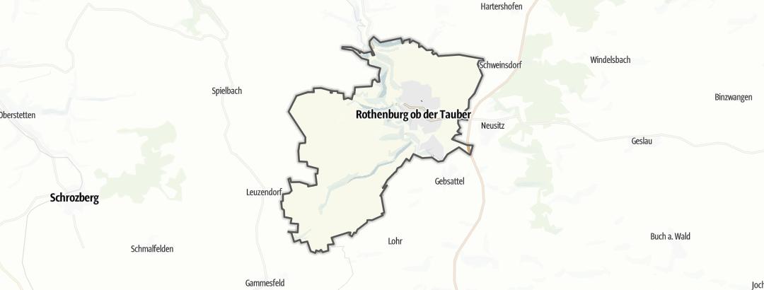 Karte / Radtouren in Rothenburg ob der Tauber