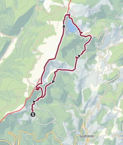 Karte / 4 Seen Wanderung Vogesen