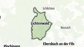 Cartina / Lichtenwald