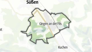 Cartina / Gingen an der Fils