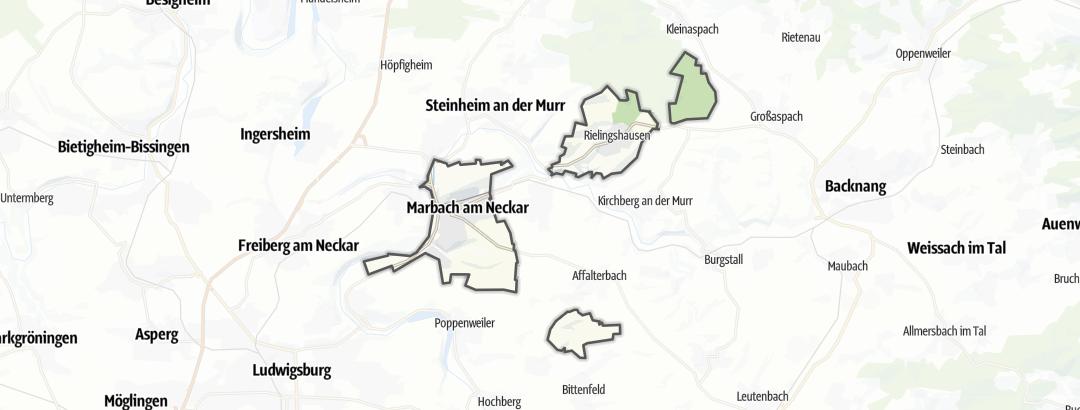 Carte / Chemins de grande randonnée - Marbach am Neckar