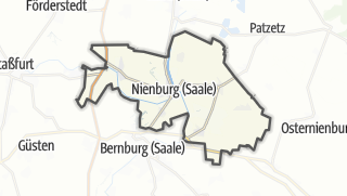 Cartina / Nienburg (Saale)