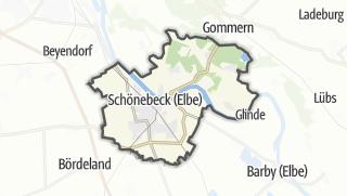 Cartina / Schoenebeck (Elbe)