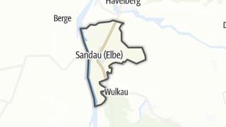 Mapa / Sandau (Elbe)