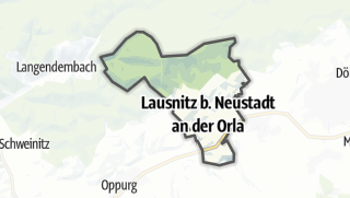Mapa / Lausnitz bei Neustadt an der Orla