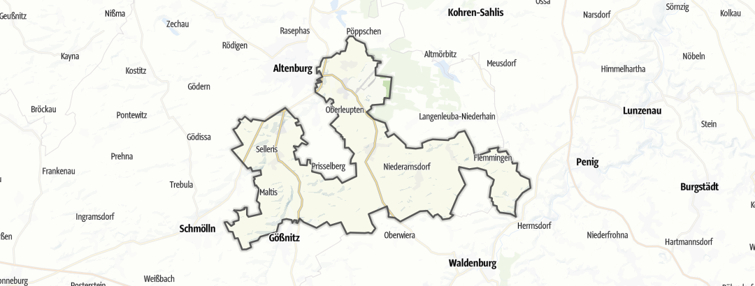 Mapa / Trilhas de caminhada em Nobitz