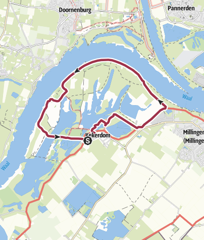 Karte / Kekerdom-Millingerwaard 'nieuwe wildernis aan de Waal'