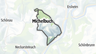 Karte / Michelbuch, gemeindefreies Gebiet