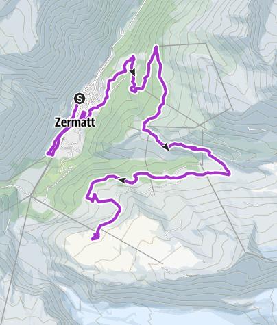 Karte / Zermatt Halbmarathon