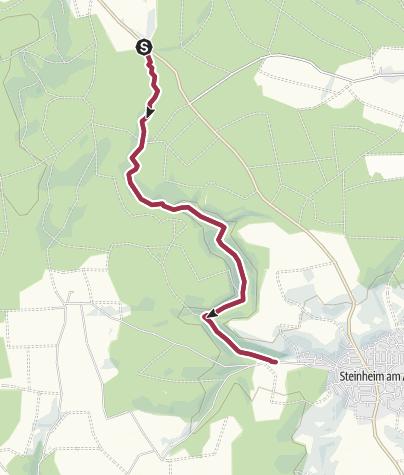 Karte / Felsenmeer Steinheim