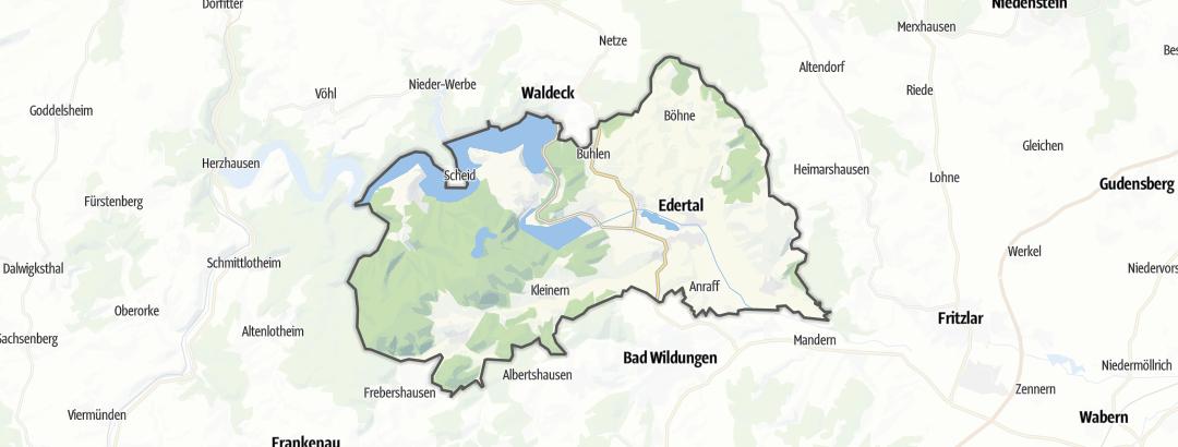 Karte / Wanderungen in Edertal