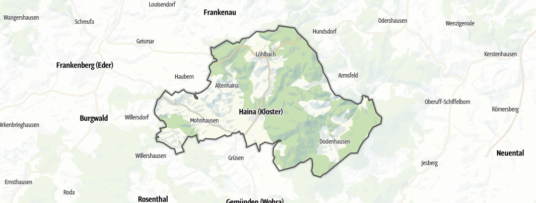 Map / Cycling in Haina (Kloster)