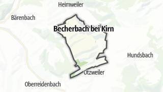 Karte / Becherbach bei Kirn