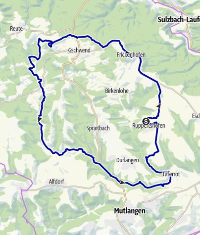Karte / Hagberg - Mühlentour
