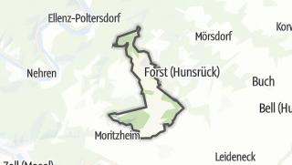 Karte / Mittelstrimmig