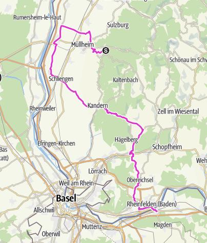 Karte / Badenweiler - Rheinfelden CH