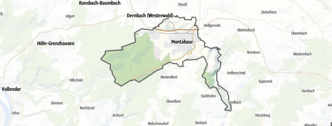 Karte / Radtouren in Montabaur