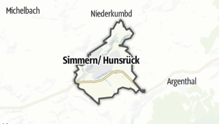 Karte / Simmern/Hunsrück