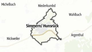 Mapa / Simmern/Hunsrueck