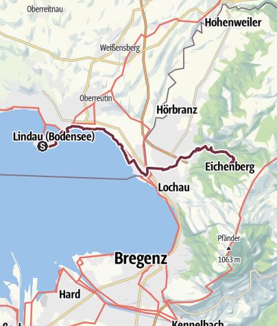 Karte / Bodensee-Zugspitze Etappe 1