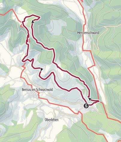 Karte / Bernauer Hochtal Steig