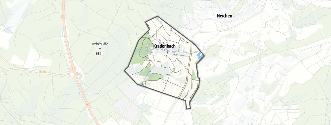 Mappa / Mezzi a motore a Kradenbach