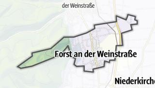Mapa / Forst an der Weinstrasse
