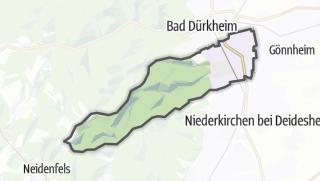 Mapa / Wachenheim an der Weinstrasse