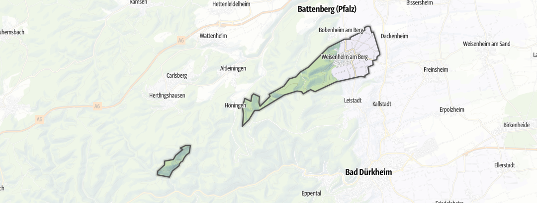 Karte / Wandern in Weisenheim am Berg