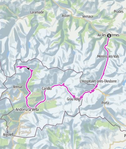 Karte / Envalira - Andorra Arcalis