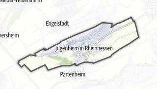 Karte / Jugenheim in Rheinhessen