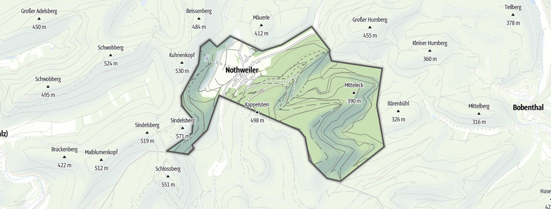 Karte / Radtouren in Nothweiler