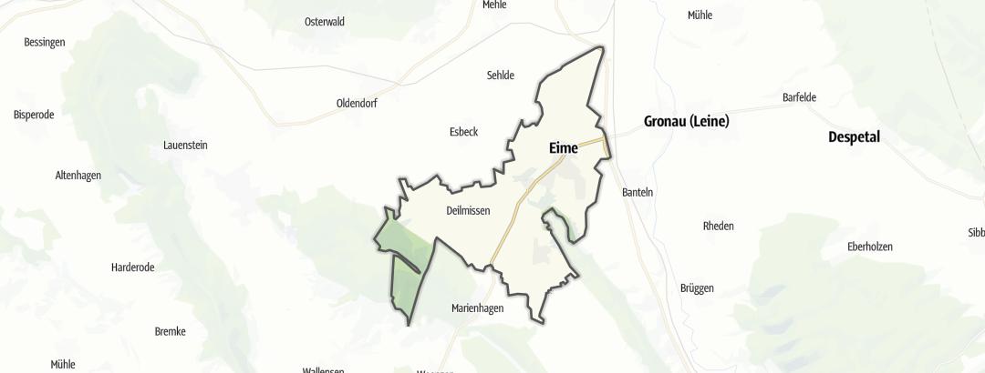 Carte / Parcours vélo de route - Eime