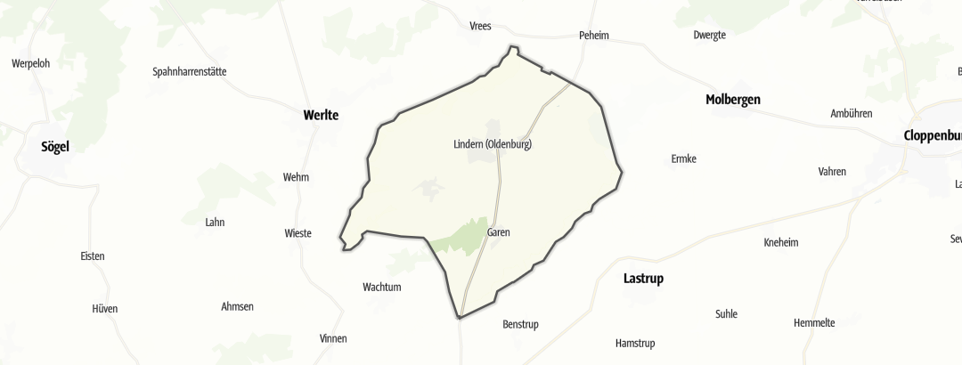 Kart / Sykling i Lindern (Oldenburg)