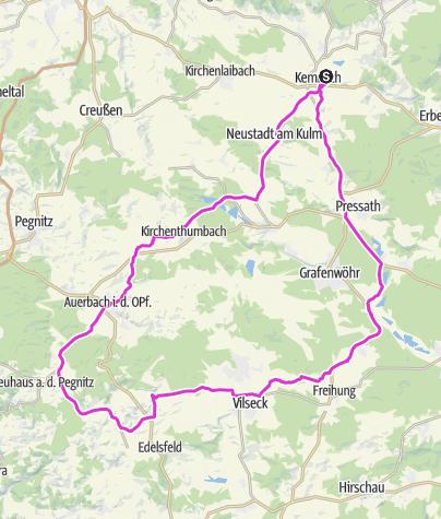 מפה / Tour um den Truppenübungsplatz