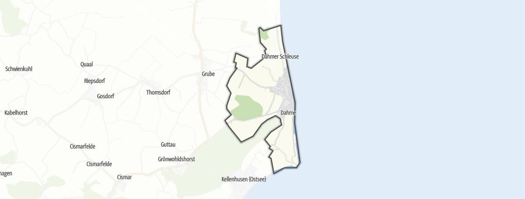 Karte / Radtouren in Dahme