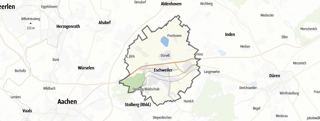 Karte / Wanderungen in Eschweiler