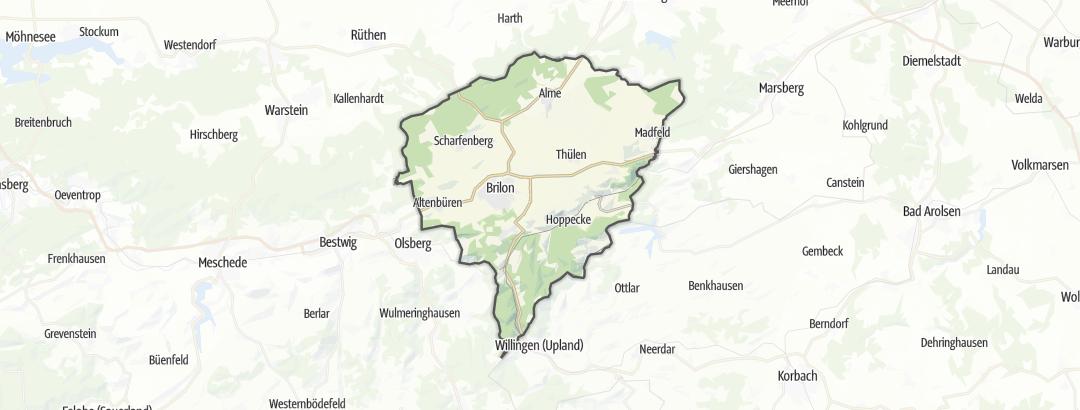 Carte / Chemins de pèlerinage - Brilon