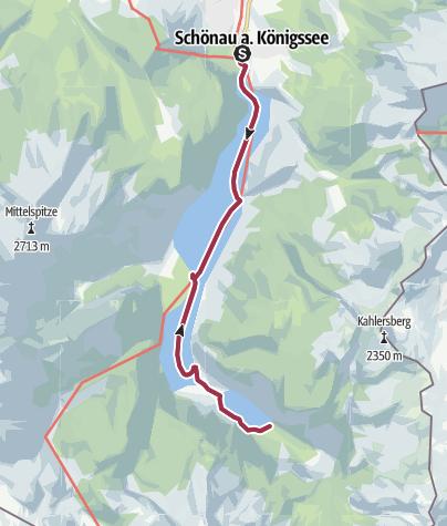 Karte / Königssee - Eine Schifffahrt, eine Alm und eine Wallfahrtskapelle