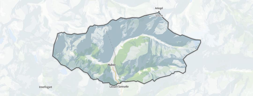 Karte / Wanderungen in Mallnitz