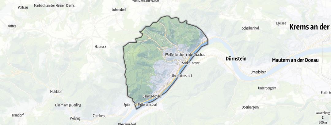 Karte / Wanderungen in Weißenkirchen in der Wachau