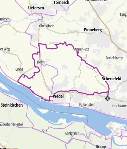 Karte / Iserbrook-Appen-Hetlingen-Wedel-Iserbrook